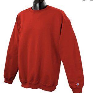 NWT Champion Men's Scarlet Red Crewneck Sweatshirt
